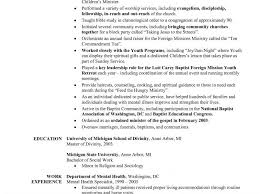 Ministry Resume Templates 100 Ministry Resume Templates Youth Pastor Resume Template