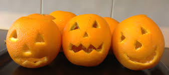 how to make halloween jack o lantern oranges