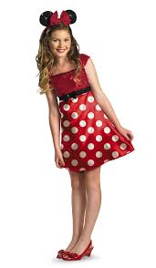 halloween costumes spirit halloween disney minnie mouse red dress tween costume u2013 spirit halloween on