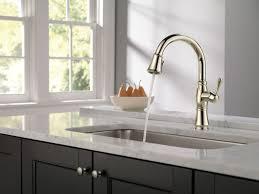 polished nickel kitchen faucet satin polished nickel kitchen faucet single handle side sprayer