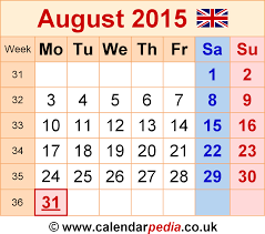 printable monthly calendars august 2015 calendar august 2015 uk bank holidays excel pdf word templates