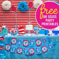 dr seuss party free dr seuss party printables