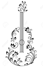 violin tattoo designs guitar with floral details for entertainment design art