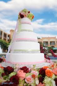 wedding cake wednesday pink bling disney weddings