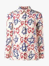 print blouses gucci graffiti print blouse blouses browns