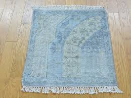 2x4 Rug 2 U0027 X 2 U0027 Square Modern Oxidized Wool And Silk Handmade Oriental Rug