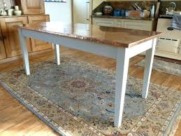 Bespoke Kitchen Furniture Copper Top Dining Table Designer Oxidized Copper Top Dining Table