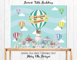 Dessert Table Backdrop by Blue Air Balloon Dessert Table Backdrop Travel Themed