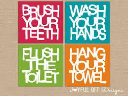 bathroom kids bathroom accessories luxury kids bathroom wall art