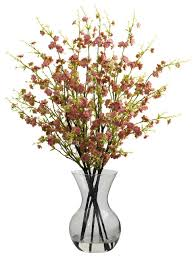 artificial flower cherry blossoms with vase arrangement traditional artificial