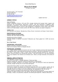 Best Resume For Kpmg by Bruce G Newformat Resume Bw Version April 2016