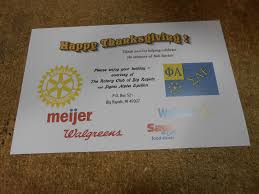 thanksgiving by the numbers bob sinclair memorial thanksgiving meals project rotary club of