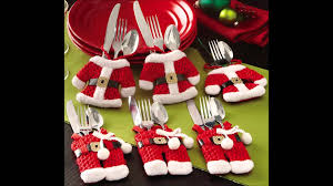santa suit christmas silverware holder pockets youtube