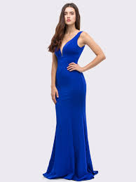 sleeveless long prom dress with mermaid hem sung boutique l a