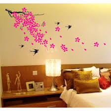 girls bedroom wall graphics master decals also for stickers girls bedroom wall graphics master decals also for stickers decorate the swallow and pink petals sticker behind bed decor