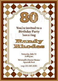 15 sample 80th birthday invitations templates ideas u2013 free sample