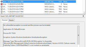 cannot sign in to office 365 in sfb control panel u2013 exception of