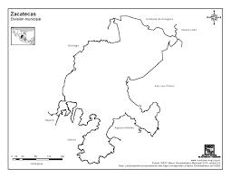 Zacatecas Mexico Map by Mapa Para Imprimir De Zacatecas Mapa Mudo De Zacatecas Inegi De
