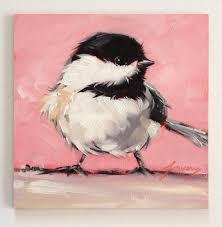 watercolor tutorial chickadee reserved for emer chickadee bird paintings 5x5 original oil