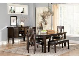 Rectangle Dining Room Table Signature Design By Ashley Haddigan 6 Piece Rectangular Dining