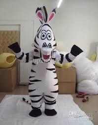 Halloween Costumes Zebra Madagascar Zebra Mascot Cartoon Animal Costumes Halloween Costume