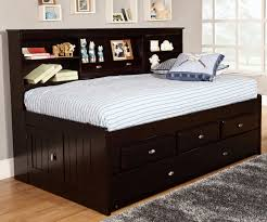 Bookcase Headboard With Drawers Fantastic Twin Bed With Drawers And Bookcase Headboard Headboard