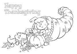 cornucopia coloring pages printable thanksgiving thanksgiving