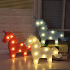 lumiere chambre enfant tête licorne led lumière le table 3d unicorn veilleuses chambre