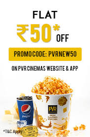 pvr cinemas offer flat rs 50 off on movie ticket new users