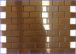 metallic tiles backsplash penny metal backsplash tile