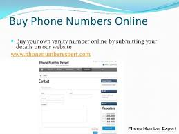 Buy Vanity 800 Number Phone Number Expert Ppt