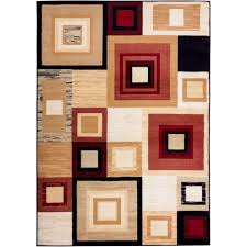 Home Design Depot Miami Well Woven Miami Sensation Squares Modern Geo Mid Century 5 Ft X