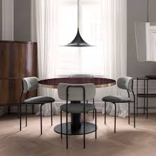Table Verre Pied Central by Tables Rondes Gubi 2 0 Plateau En Verre Gubi