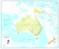 Australian World Map by Australia On A World Map Evenakliyat Biz