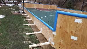 Backyard Ice Rink Brackets Backyard Ice Rinks