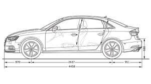 audi size audi a3 sedan dimensions audi a3 features