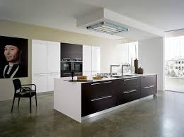 plafond cuisine design cuisine design blanche et bois hotte de plafond newsindo co