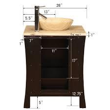 26 perfecta pa 175 bathroom vanity single sink cabinet
