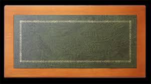 dessus de bureau bureau classique stucs et dessus en cuir lamaisonplus