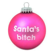bauble santa s pink cat shop