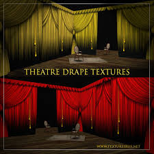 Theater Drape Second Life Marketplace Textures R Us Theatre Stage Curtain