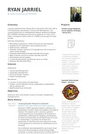 Interest In Resume Sample by Undergraduate Research Assistant Resume Samples Visualcv Resume