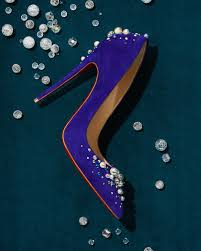 christian louboutin candidate pearly embellished suede red sole