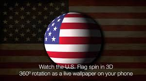 American Flag Watches 3d Spinning Usa Flag Live Wallpaper Youtube