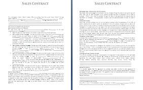 sales agreement template sales contract template word jpg