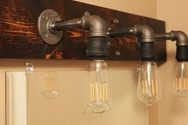 Rustic Faucets Bathroom by Bathroom Rustic Bathroom Light Fixtures Using Galvanized Bulb On