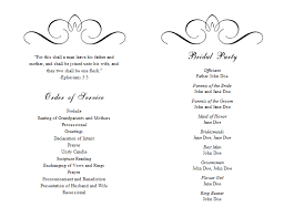wedding program layout template wedding program templates word party planning