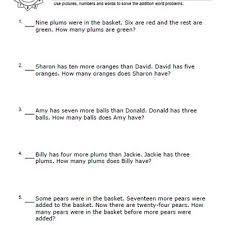 sample word problem worksheets word problems worksheets