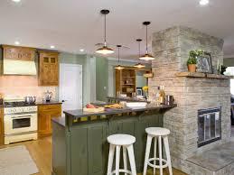 Nickel Flush Mount Ceiling Light With Kitchen Island Pendant