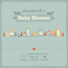 Baby Invitation Card Vintage Baby Shower Invitation Cards Vector 04 Vector Card Free